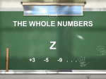 THE WHOLE NUMBERS - bilingual project fiñana