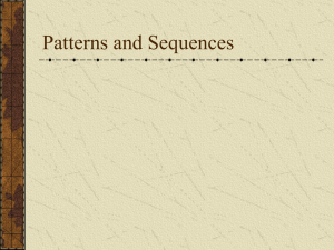 Arithmetic and Geometric Sequence Instructional PowerPoint