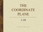 THE COORDINATE PLANE