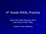 4th Grade WASL Practice Slideshow #1