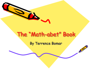The Math-abet Book - TerrenceGraduatePortfolio