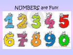 NUMBERS are Fun!