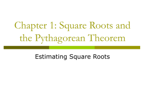 1.4 Estimating Square Roots