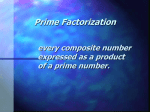 Prime Factorization Powerpoint