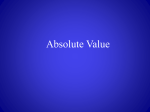 Absolute Value Powerpoint