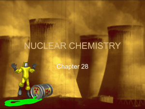 NUCLEAR CHEMISTRY
