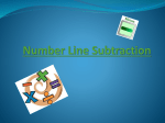 How to use a numberline for subtraction
