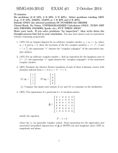 SIMG-616-20142 EXAM #1 2 October 2014