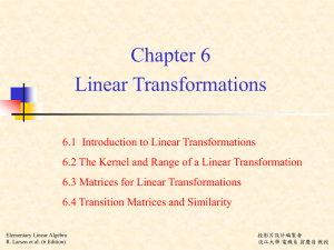 Linear Transformations