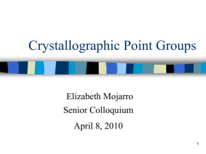 Crystallographic Point Groups