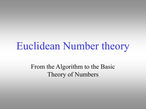 Euclidean Number theory - York College of Pennsylvania