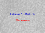 Calculus for the Natural Sciences