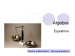 Algebra - Every Maths Topic