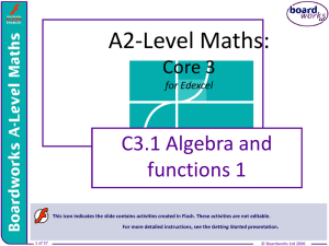 A2-Level Maths: Core 3 for Edexcel