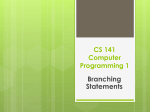 CS 201 Introduction in Computer