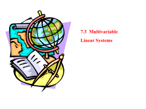 7.3 Multivariable Linear Systems