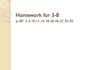 Homework for 3-8 - Stillman Valley High School