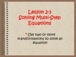 2.3 Notes Solving Multi