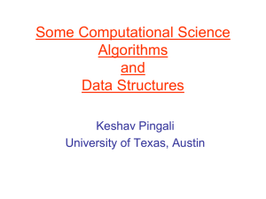 Some Computational Science Algorithms