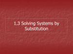 Steps for Substitution - Brookwood High School