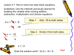 5.7 Solving Two-Step Equations
