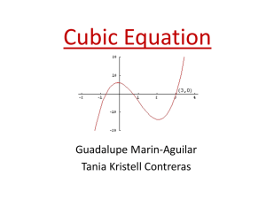 Cubic Equation - Cloudfront.net