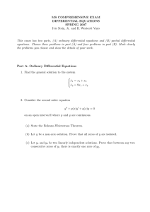 MS COMPREHENSIVE EXAM DIFFERENTIAL EQUATIONS SPRING 2007