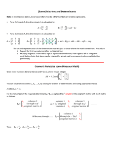 (Some) Matrices and Determinants