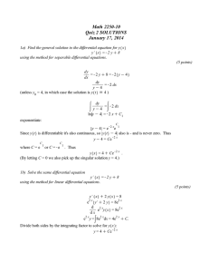 Math 2250-10 Quiz 2 SOLUTIONS January 17, 2014