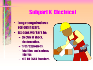 Subpart K Electrical