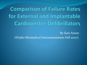 Comparison of Failure Rates for External and Implantable