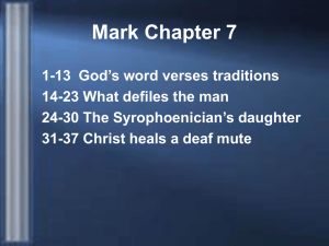 Mark 7:1-23 - Friends in Faith