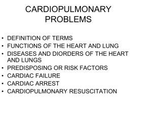 CARDIOPULMONARY PROBLEMS