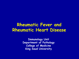 lecture 1 - Rheumatic Fever and Heart Disease (2013).