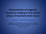Interpretation of magnetic resonance imaging in the