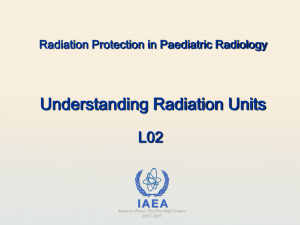 Understanding Radiation Units - Radiation Protection of Patients