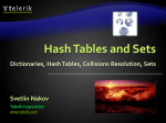 Hash Tables and Sets