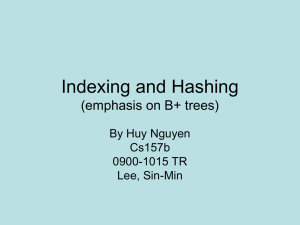 B Tree Index Files by Huy Nguyen