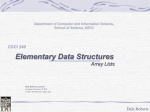 Array Lists - Department of Computer and Information Science