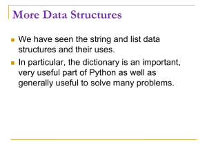More Data Structures