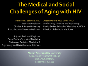 Aging with HIV:
