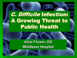 C.Difficille infection