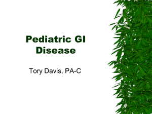 Pediatric GI Disease