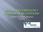 Comprehensive All-Hazard Emergency Response Plan Overview