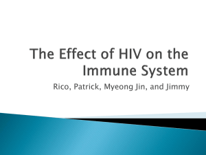 The Effect of HIV on the Immune System