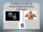 COMMUNICABLE & NONCOMMUNICABLE DISEASES