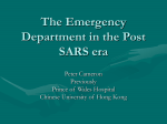 The Emergency Department in the Post SARS era