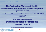 making a difference The Protocol on Water and Health