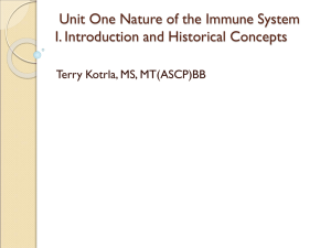 Nature of The Immune System