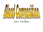 Blood Composition Notes